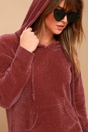 Nellie Rusty Rose Chenille Hoodie 4