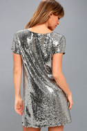 Light Up the Night Silver Sequin Shift Dress 3