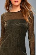 Keep it Fly Black and Gold Long Sleeve Bodycon Midi Dress 4