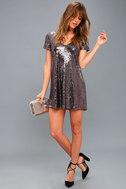 Light Up the Night Lavender Sequin Shift Dress 2
