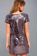 Light Up the Night Lavender Sequin Shift Dress 3