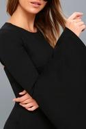 Style Spotlight Black Flounce Sleeve Bodycon Dress 4