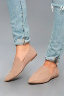 Gaga Light Taupe Snake Suede Leather Loafers 1
