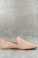 Gaga Light Taupe Snake Suede Leather Loafers 3
