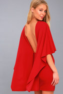Best is Yet to Come Red Backless Dress 1