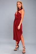 Transcend Wine Red Midi Dress 2