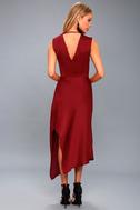 Transcend Wine Red Midi Dress 3