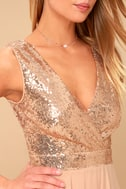 Sparkle and Shine Rose Gold Sequin Skater Dress 8