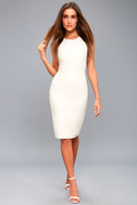 Be Mine White Open Back Midi Dress 5