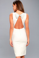 Be Mine White Open Back Midi Dress 7