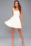 Royal Court White Skater Dress 5