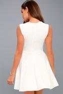 Royal Court White Skater Dress 7