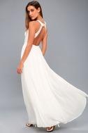 Precious Love White Lace Backless Maxi Dress 6
