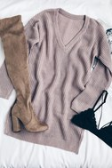 Bringing Sexy Back Mauve Backless Sweater Dress 7