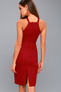 Be My Baby Wine Red Bodycon Midi Dress 7