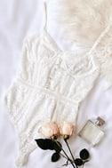 Lady Marmalade White Lace Bodysuit 6