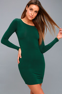 Comeback Baby Forest Green Dress 4