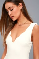 Watch for Curves White Sleeveless Bodycon Dress 8