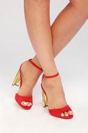 Lulus Audrina Copper Ankle Strap Heels - Lulus 908kW0b