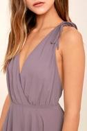 Dance the Night Away Dusty Purple Backless Maxi Dress