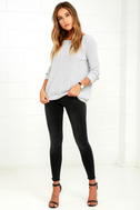 Just For You Light Grey Backless Sweater