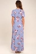 Astr The Label Selma Periwinkle Floral Print Dress