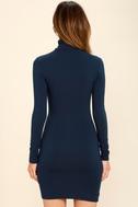 High Hopes Navy Blue Long Sleeve Bodycon Dress 10