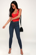 The Great Jones Dark Wash High Rise Skinny Jeans by Lulu's