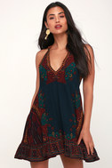 Steal The Sun Teal Blue Print Tunic by Lulu's