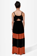 Merrily Rolling Along High Low Black Dress