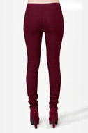 Down for Whatever Burgundy Skinny Pants