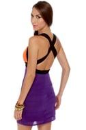 Bright Direction Color Block Dress