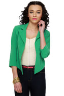 In Charge Green Cropped Jacket
