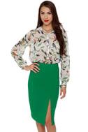 Fashion Internship Green Pencil Skirt