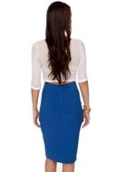 Fashion Internship Blue Pencil Skirt