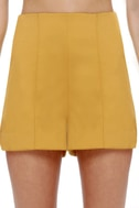 Hop Skip and Jump Yellow High-Waisted Shorts