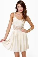 Vanilla Puddin' Cream Lace Dress
