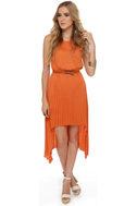 BB Dakota June High-Low Orange Dress