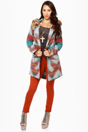 BB Dakota Koa Southwest Print Coat