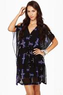 BB Dakota Celeste Black Print Dress