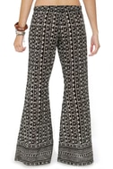 Billabong Cosima Pull-On Black Print Pants