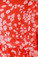 Billabong Panorama Poppy Orange Print Tunic Top