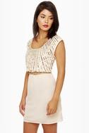 On Reflection Cream Sequin Dress