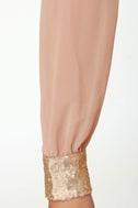 Stay the Quartz Blush Sequin Dress