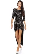 Blaque Label Energizer Hunny Black Sequin Dress