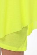 Leaves of Sass Neon Yellow Dress