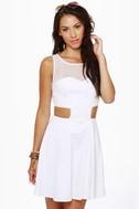 Girls\' Night Out White Dress