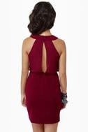 Celebutante Burgundy Dress