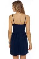 Tender Kisses Navy Blue Dress