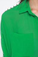 All of a Stud-den Sheer Green Top